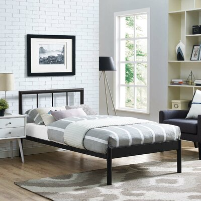 Thelen Bed Frame Color: Brown
