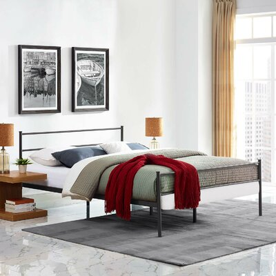 Geller Full Platform Bed Frame Color: Brown