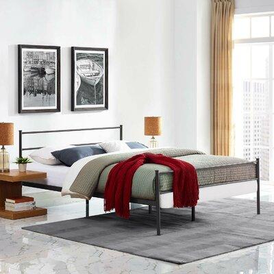 Geller Full Platform Bed Frame Color: Brown