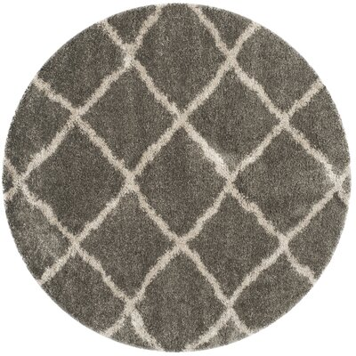 Charmain Grey & Taupe Area Rug Rug Size: Round 67
