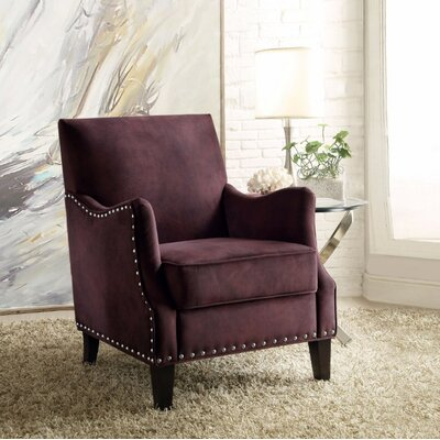 Sykesville Arm Chair Upholstery Color: Purple