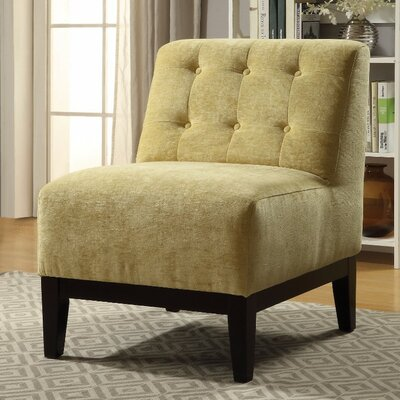 Batie Slipper Chair Upholstery Color: Yellow