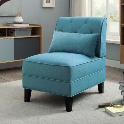 Fontes Slipper Chair Upholstery Color: Blue