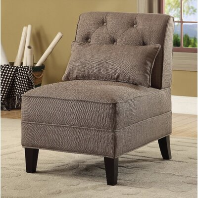 Fontes Slipper Chair Upholstery Color: Brown