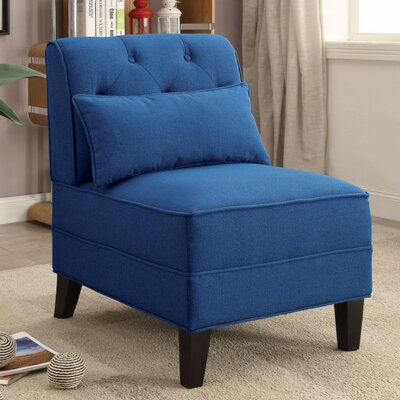Fontes Slipper Chair Upholstery Color: Dark Blue
