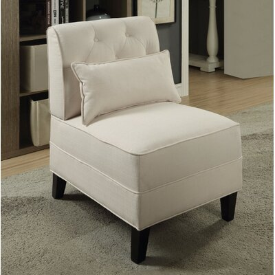 Fontes Slipper Chair Upholstery Color: White