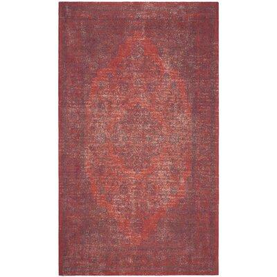 Thompson La Foa Red Area Rug Rug Size: Rectangle 4 x 6