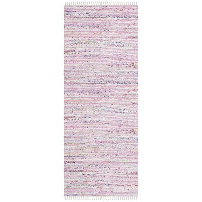 Lansing Hand-Woven Light Pink Area Rug Rug Size: Runner 23 x 7