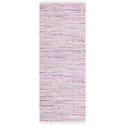Lansing Hand-Woven Light Pink Area Rug Rug Size: Runner 23 x 7