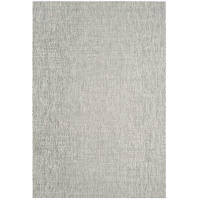 Adelia Gray/Turquoise Indoor/Outdoor Area Rug Rug Size: Rectangle 53 x 77