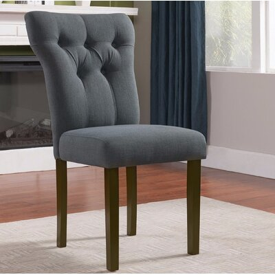 Jamieson Upholstered Dining Chair Upholstery Color: Gray