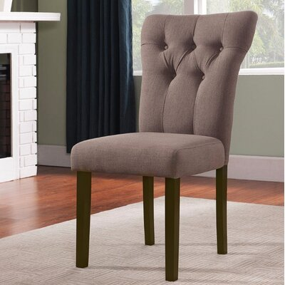 Jamieson Upholstered Dining Chair Upholstery Color: Light Brown