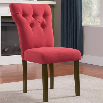 Jamieson Upholstered Dining Chair Upholstery Color: Red