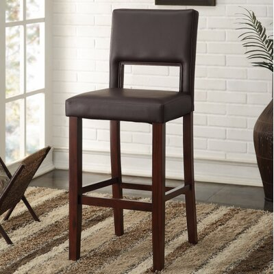 Maroun Bar Stool Upholstery Color: Brown