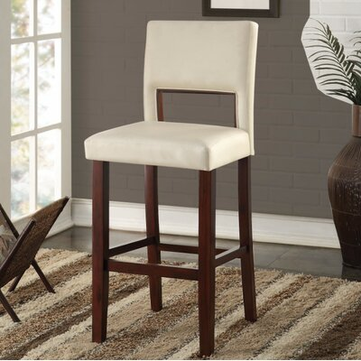 Maroun Bar Stool Upholstery Color: White
