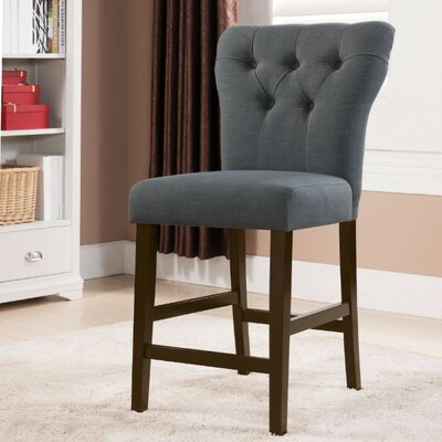Jamil Counter Height Side Chair Upholstery Color: Gray