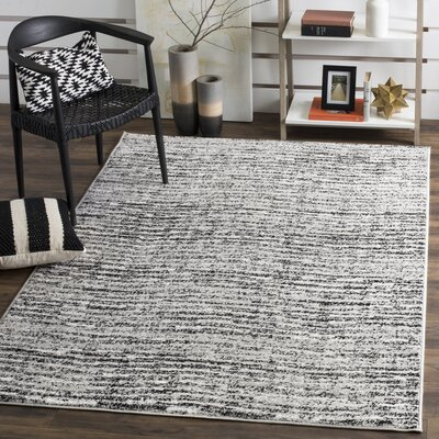 Millbrae Black/Beige Area Rug Rug Size: Rectangle 51 x 76