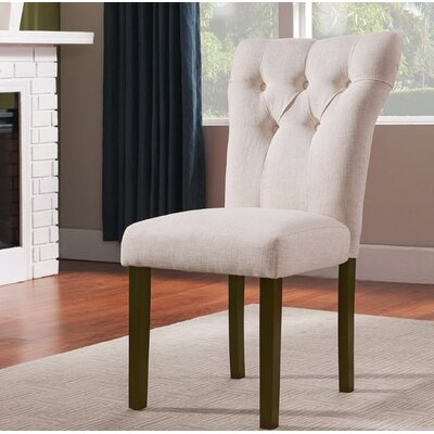 Jamieson Upholstered Dining Chair Upholstery Color: White