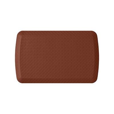 Basics Anti-Fatigue Basketweave Kitchen Mat Color: Chestnut