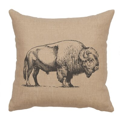 Lanphear Buffalo Throw Pillow Color: Natural