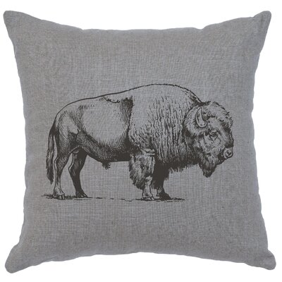 Lanphear Buffalo Throw Pillow Color: Gray