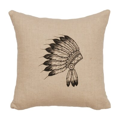 Naccarato Headdress Throw Pillow Color: Natural