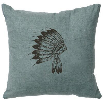 Naccarato Headdress Throw Pillow Color: Ocean