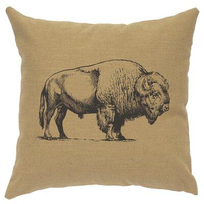 Lanphear Buffalo Throw Pillow Color: Straw