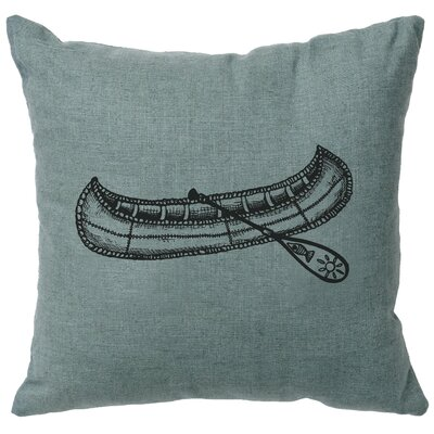 Nadel Canoe Throw Pillow Color: Ocean
