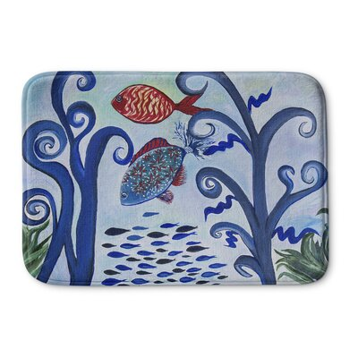 Burkart Fancy Fish Reef Memory Foam Bath Rug Size: 24 W x 36 L