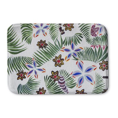 Oberlin Palm Special Memory Foam Bath Rug Size: 24