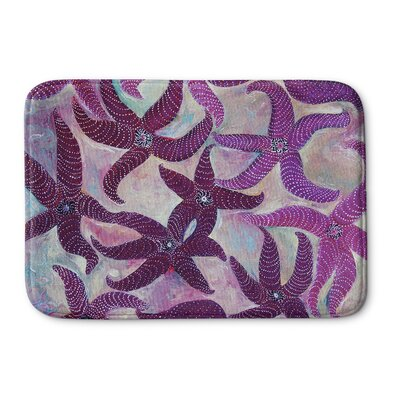 Burkey Starfish Dance Memory Foam Bath Rug Size: 17 W x 24 L