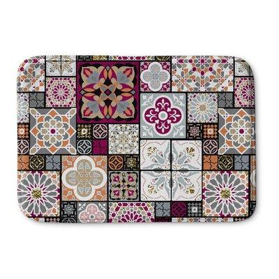 Chrisman Tile Memory Foam Bath Rug Size: 17 W x 24 L, Color: Red/Maroon