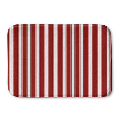 Grenville Stripes Bath Rug Size: 17 W x 24 L