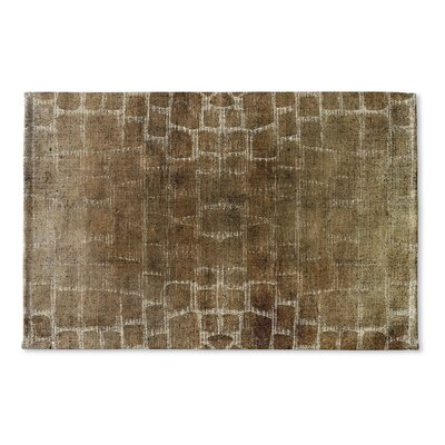 Eckhart Flat Weave Bath Rug Color: Brown/Tan/Ivory