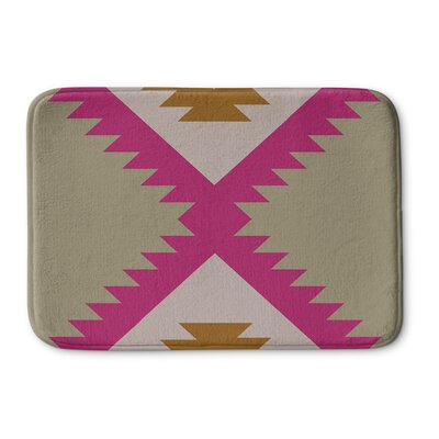Levering Memory Foam Bath Rug Size: 17 W x 24 L, Color: Pink/Tan
