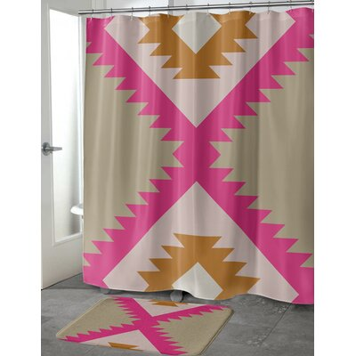 Licon Shower Curtain Size: 70 H x 90 W
