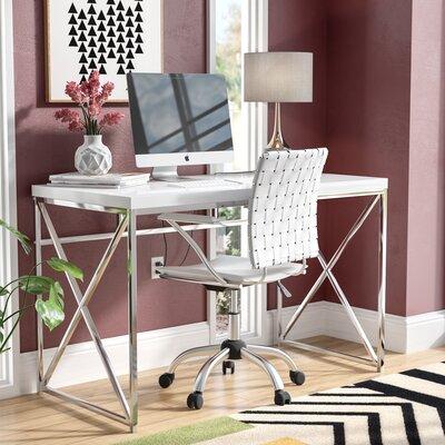 Mercury Row Esser Writing Desk Finish: Glossy White