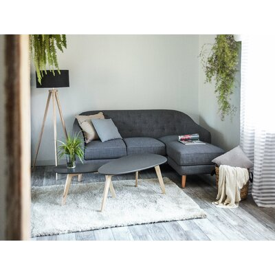 Corner Sofa Upholstery: Dark Grey