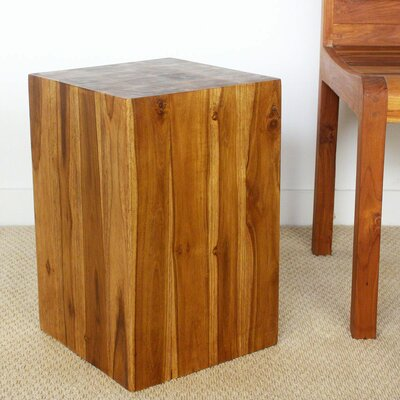 Lawless Teak Square Block End Table