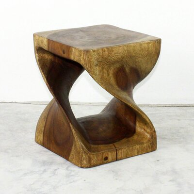 Lawncrest Twist End Table Color: Antique Oak