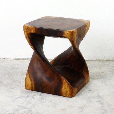 Lawncrest Twist End Table Color: Walnut