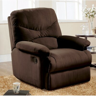 Malefatto Manual Glider Recliner Upholstery Color: Chocolate Brown