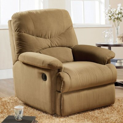 Malefatto Manual Glider Recliner Upholstery Color: Light Brown