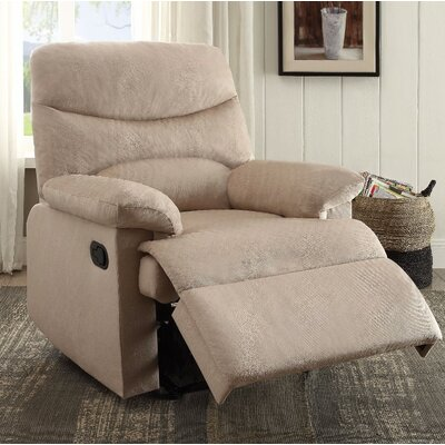 Demagu Comfy Manual Recliner Upholstery Color: Beige