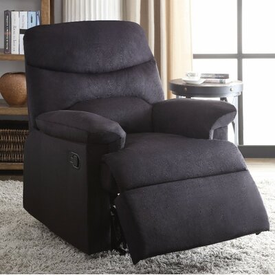 Demagu Comfy Manual Recliner Upholstery Color: Black