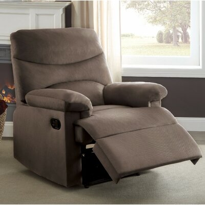 Demagu Comfy Manual Recliner Upholstery Color: Brown