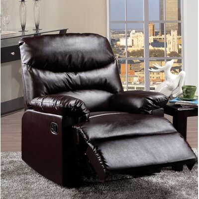 Forst Manual Gilder Recliner Upholstery Color: Brown