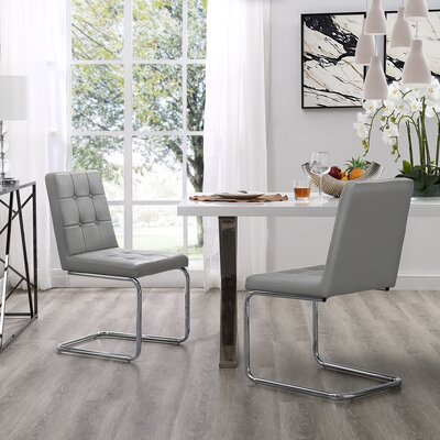 Biston Upholstered Dining Chair Upholstery: Light Gray