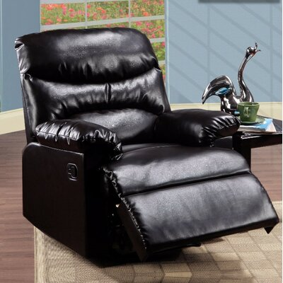 Forst Manual Gilder Recliner Upholstery Color: Espresso Brown